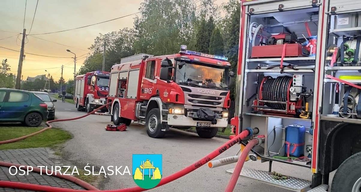 pożar w Turzy Śląskiej