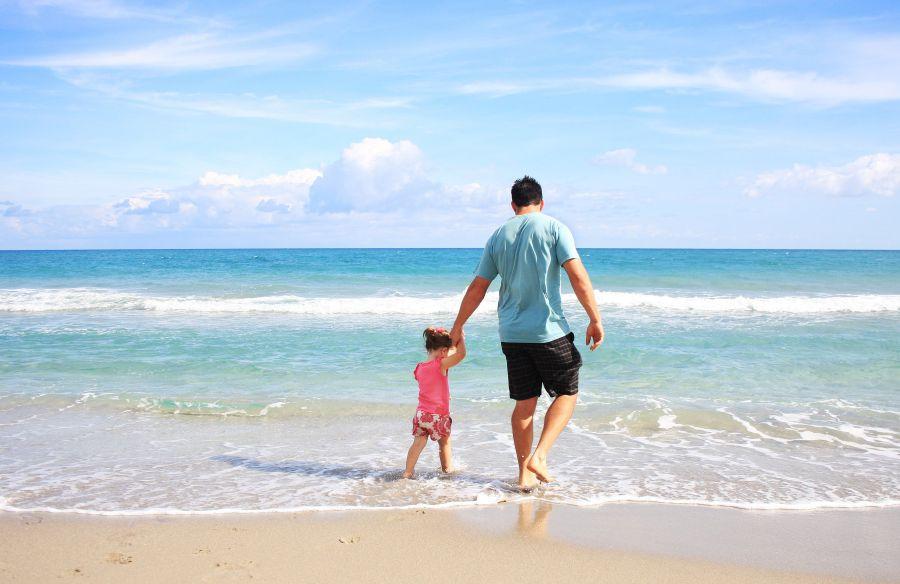 wakacje morze rodzina