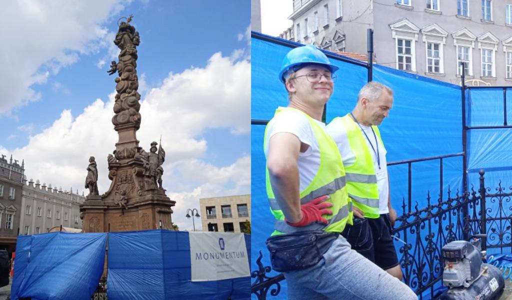 Renowacja Kolumny Maryjnej