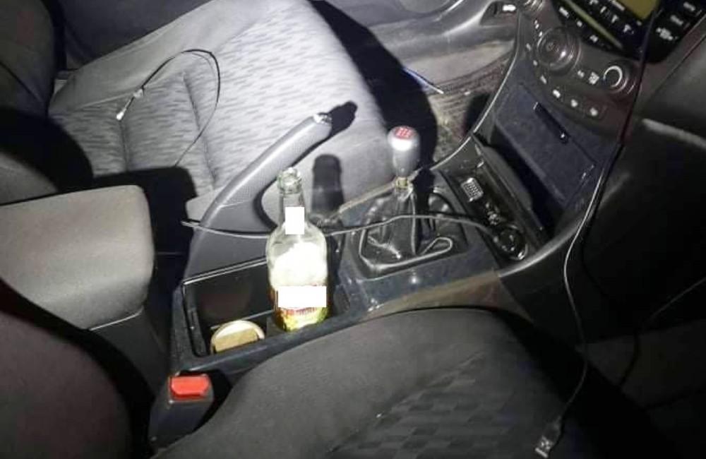 Pił piwo podczas jazdy