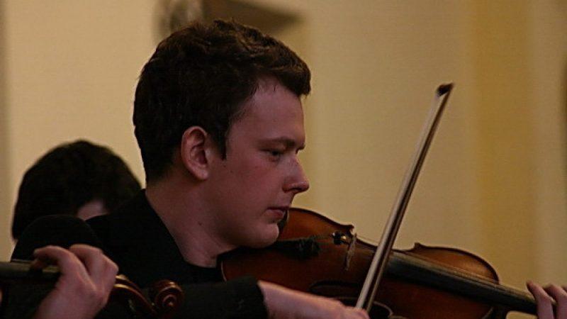 Muzyka postna  w kościele w Brzeziu