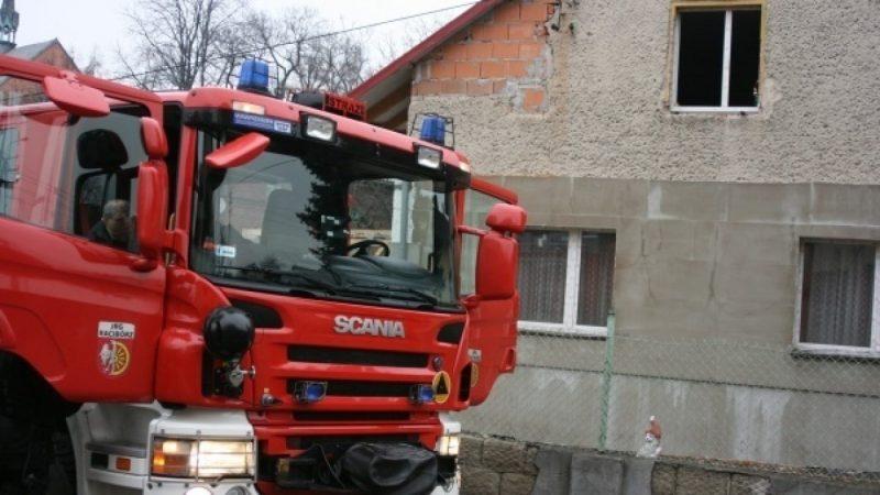 Pożar domu w Markowicach