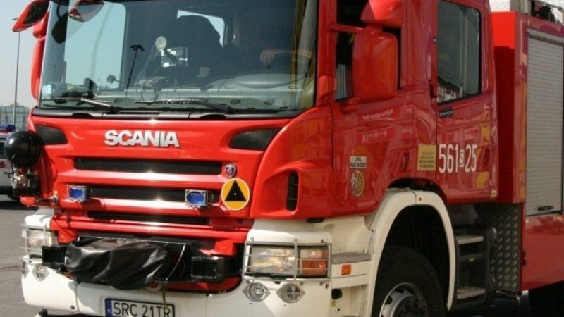Akcja Straży Pożarnej w MediaExpert