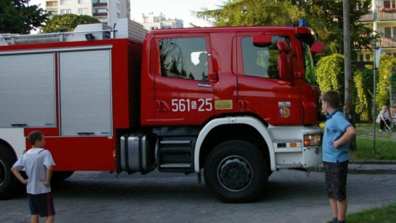 Akcja straży pożarnej na Słowackiego