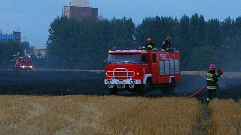 Strażacy gaszą pożar w Studziennej
