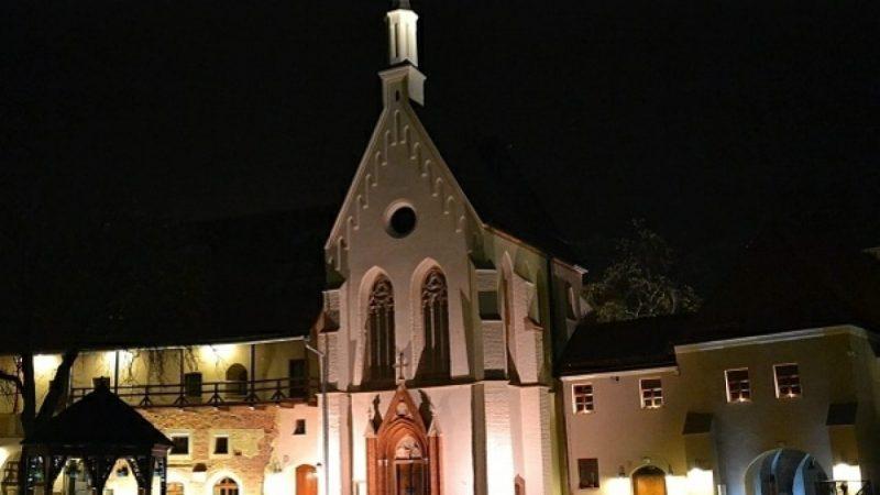 Zamek Piastowski nocą