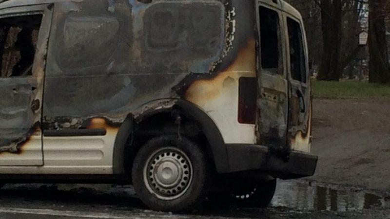 Pożar samochodu w Bohuminie