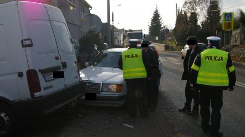 Mercedes wjechał w renault