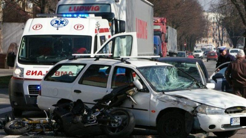 Poważny wypadek na Opawskiej