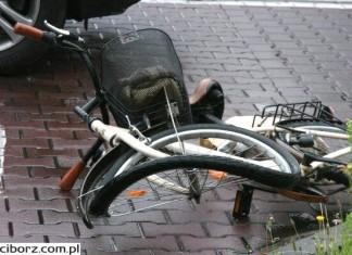 Wypadek rowerzystki w Siedliskach