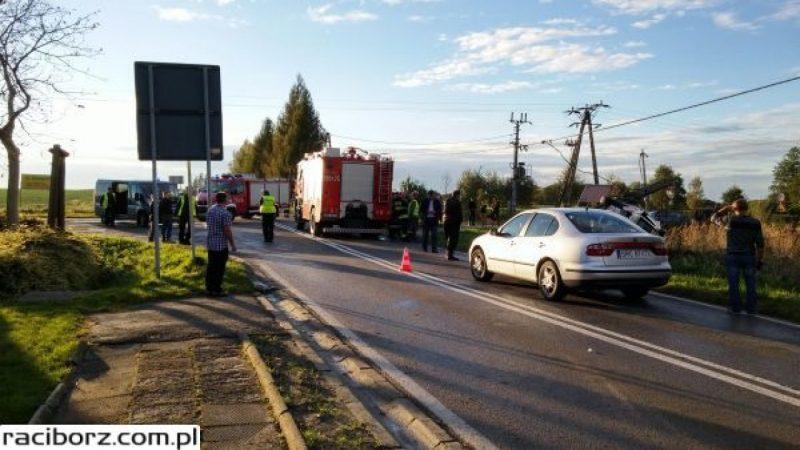 Wypadek w Samborowicach