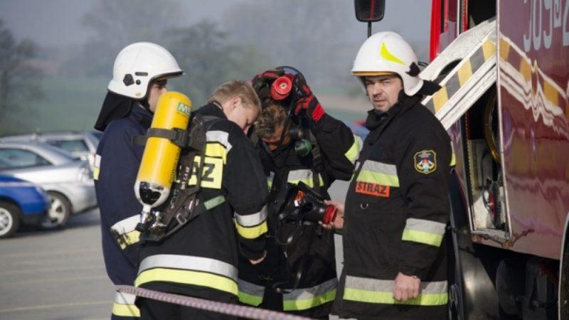 Powiatowe ćwiczenia strażackie w Kornicach