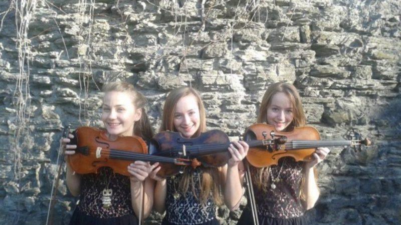 Utalentowane skrzypaczki ze szkoły muzycznej