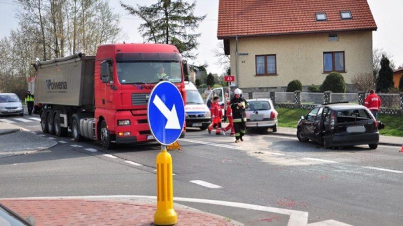 Wypadek na DK 45 w Tworkowie