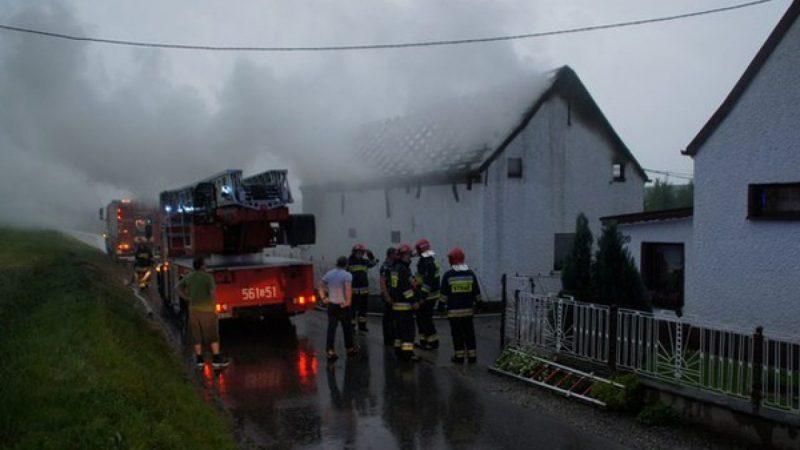 Pożar stodoły w Rudniku