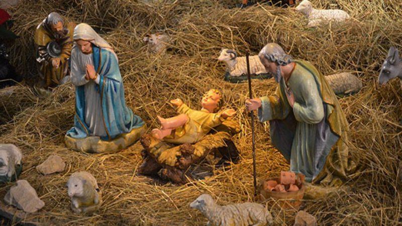 Szopka bożonarodzeniowa parafii NSPJ w Raciborzu